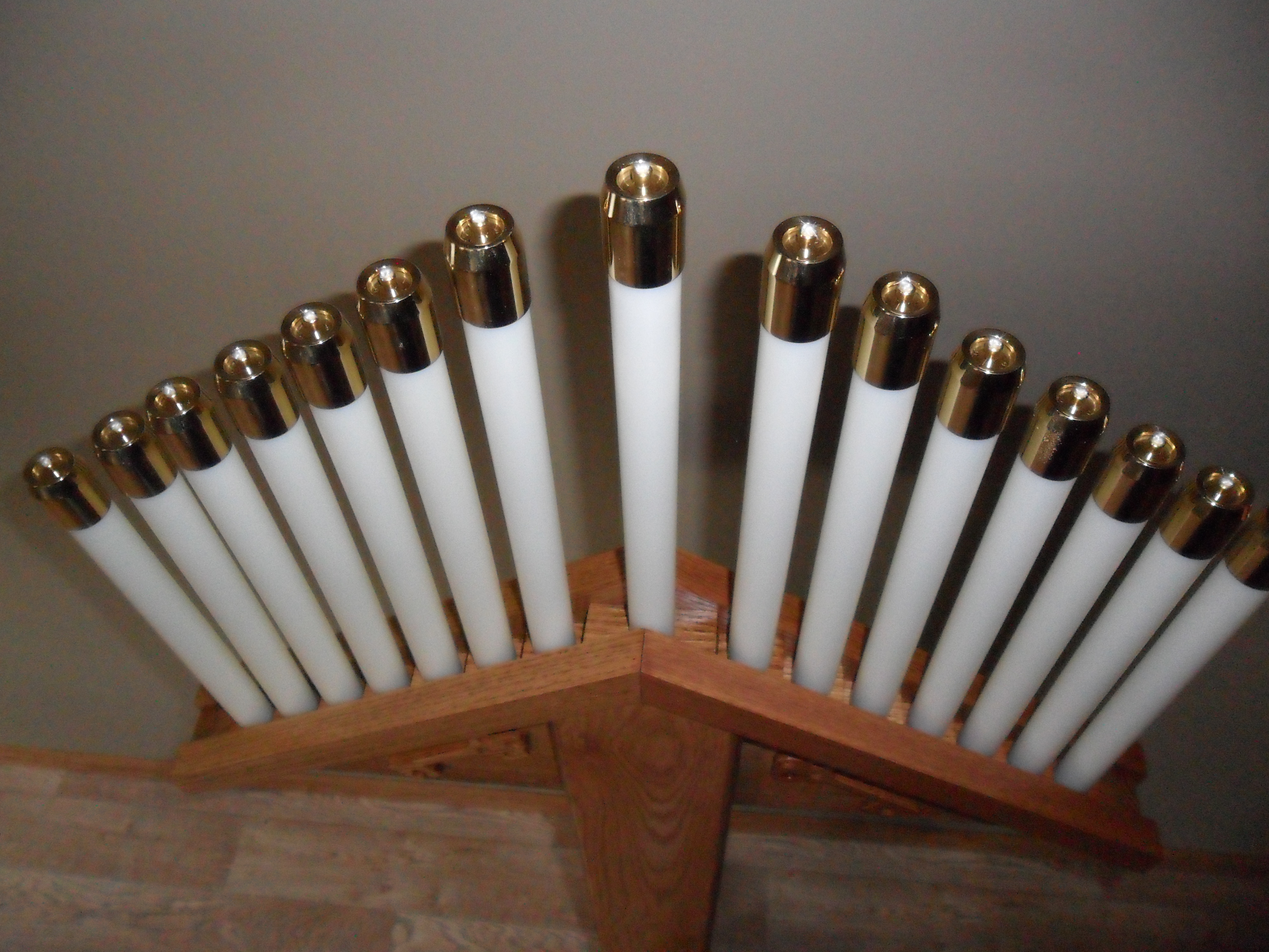 The tenebrae hearse midnight woodworking for Oil filled candlesticks