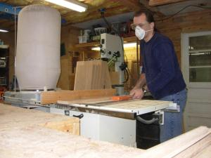 ripping down the narrow boards