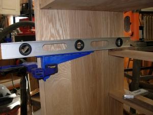 Preparing to install the drawer slides