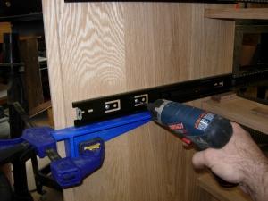 Installing the drawer slides
