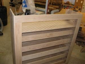 Test fit rear panel frame