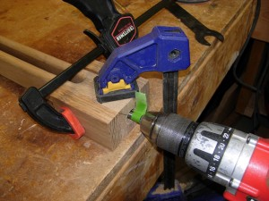 Drilling with the jig