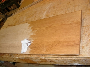 Starting the staining