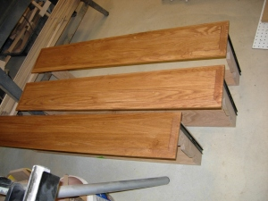 Drawer faces stained