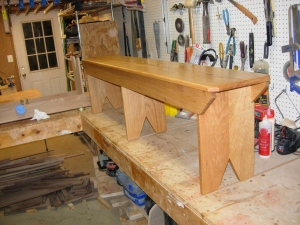 First bench done