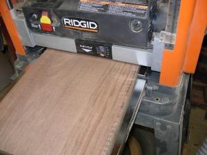 Flattening a piece of scrap