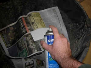 Spray-on glue
