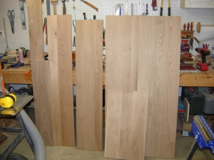 Boards glued, planed, & sanded