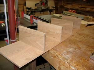 Shelves installed on inner divider