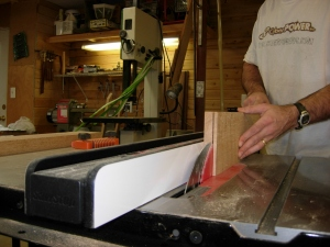 Resawing on the new table saw