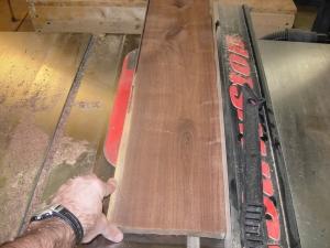 Cutting the walnut to size