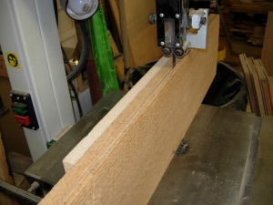 Resawing the wide boards on the bandsaw