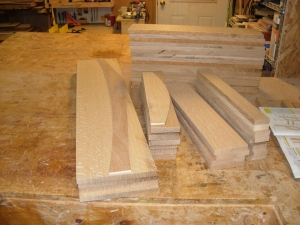 All the oak milled