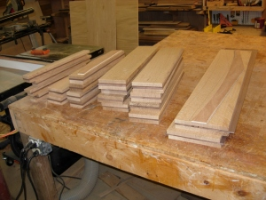 All the wood is roughed and ready for glue-up