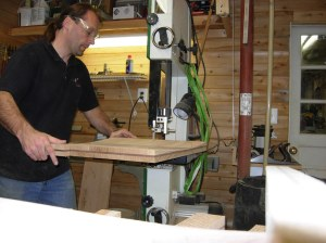 Cutting the seats out on the bandsaw