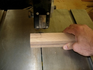 Cutting one of the notches