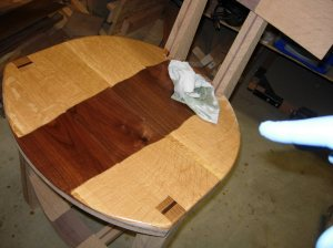 First coat of tung oil