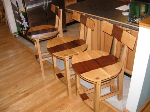 Finished pub chairs
