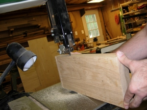 Cutting the curve on the bandsaw