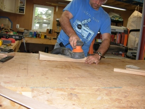 Sanding the seat curve