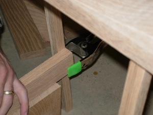 Clamping the supports