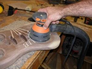 Finish sanding