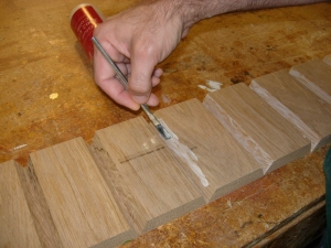 Glueing the beveled edges