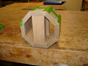Glueing end pieces in place