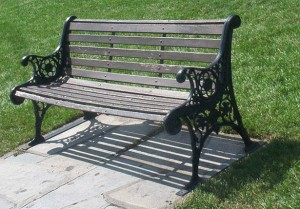 An old park bench