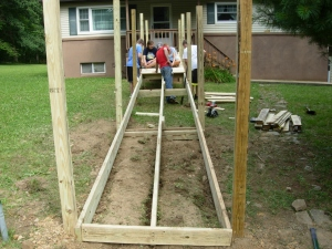 Posts, joists, & headers set