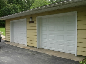 Wrapped garage doors