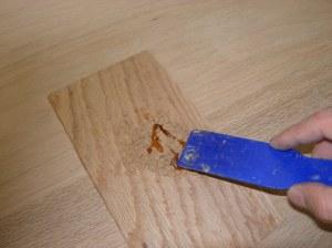 Mixing in hide glue
