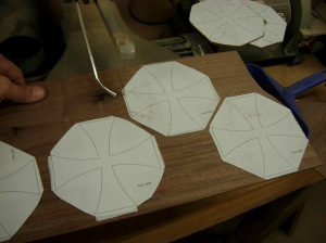 Cutting out the rest of the crosses