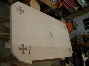 Laying out the crosses