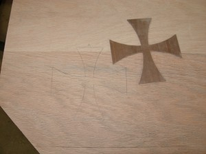Crosses traced and marked