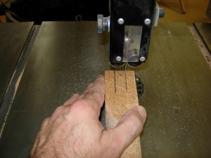 Bandsaw to cut the tenons