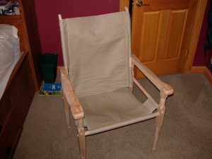 Chair assembled