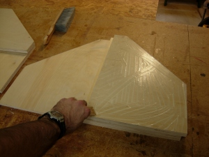 Glueing up the tabernacle base top