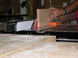 Ripping the center veneer piece