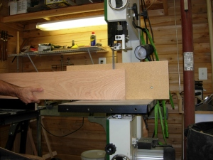 Resawing the center veneer piece