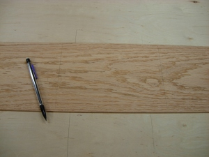 Locating and marking the veneer