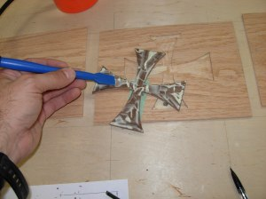 Glueing the cross