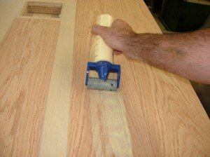 Glueing up the side strips