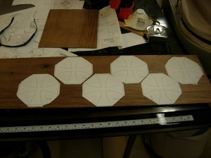 Attaching six more cross patterns for cutting