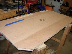 Repairing the last two pieces of veneer