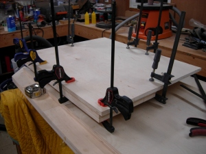 Pressed and clamped
