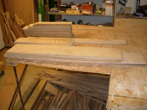 Left-over white oak veneer