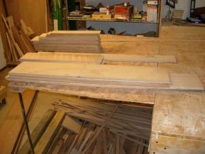 Left-over white oak veneer