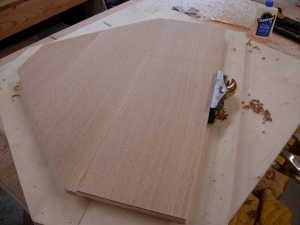 Planing the bottom with the grain