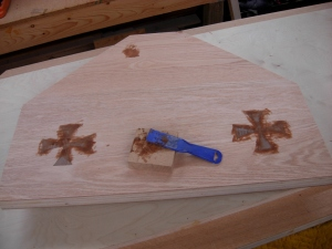Filling around the crosses